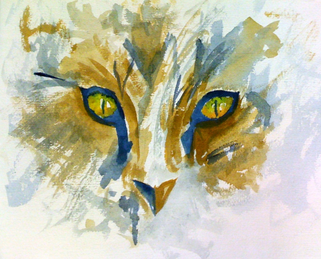 cat painting cropped